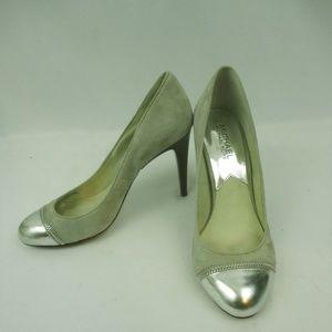 Michael Kors High Heels Size 7.5 M Grey Metallic